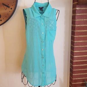 Rue21 Button Front Tank Dress Blouse